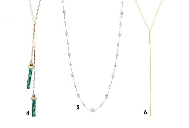 Opções de colares para serem usados nas costas (Foto: Divulgação)