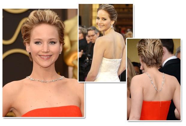 Jennifer Lawrence é expert em adotar a tendência nos red carpets (Foto: Getty Images)