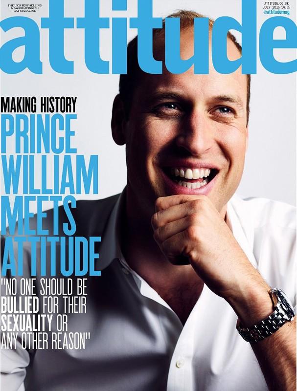 Príncipe William na capa da Attitude (Foto: Divulgação)