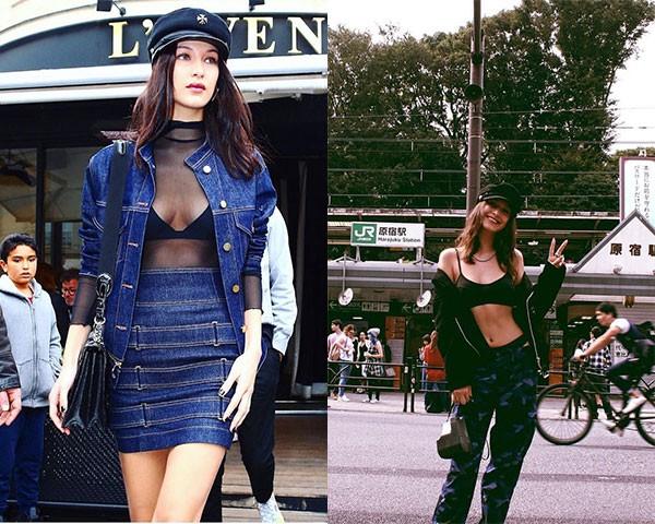 Mesmo o street style da modelo conta com elementos sexys (Foto: Reprodução/Instagram)