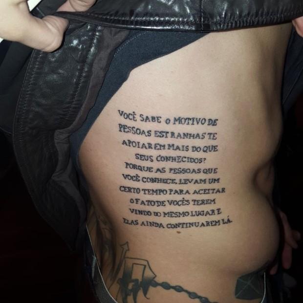 Tatuagem de Felipe Tito (Foto: Divulgação)