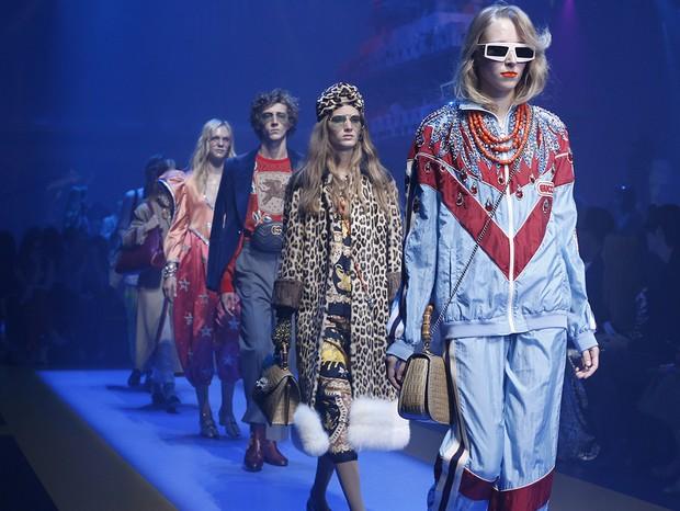 Fila do desfile da Gucci verão 2018 (Foto: Divulgação)