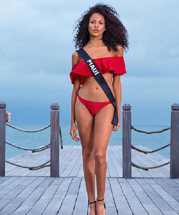 Monalysa Alcântara, Miss Piauí, vence Miss Brasil 2017 (Foto: Band/Divulgação)