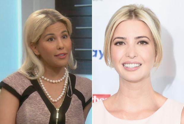 Tiffany Taylor (à esquerda) fez 13 cirurgias plásticas num ano para parecer Ivanka Trump (Foto: Reprodução/E!/Getty Images)