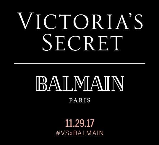 Parceria da Victoria's Secret com Olivier Rousteing, da Balmain (Foto: Reprodução/ Instagram)