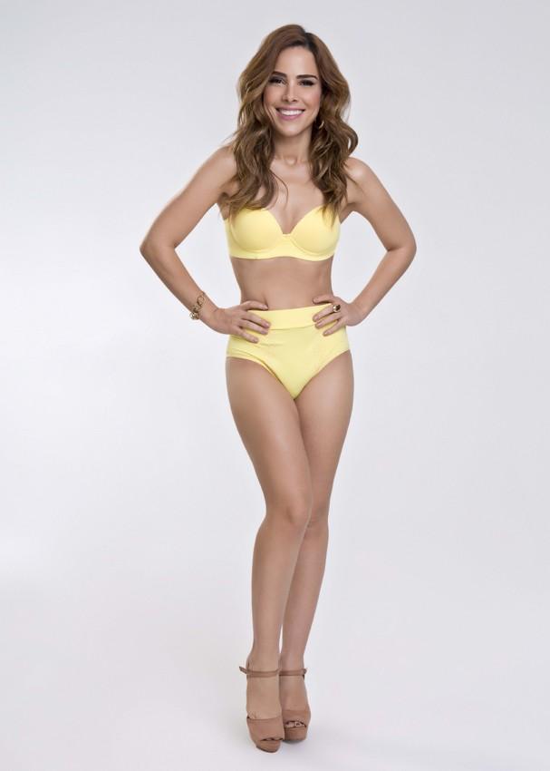 Wanessa Camargo posa para campanha de lingerie (Foto: Divulgação)