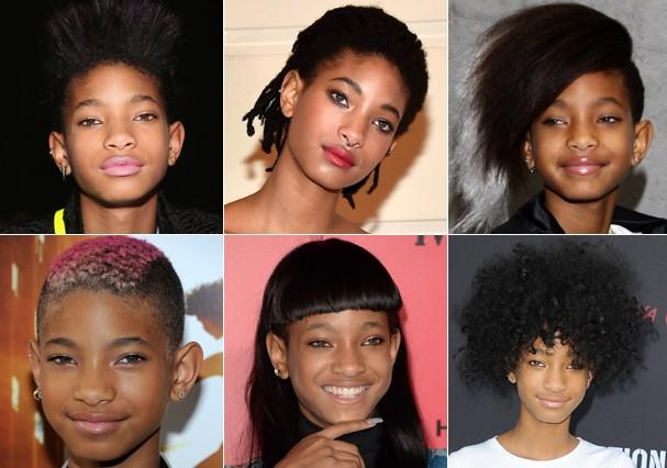 Willow Smith e vários cabelos (Foto: Getty Images)