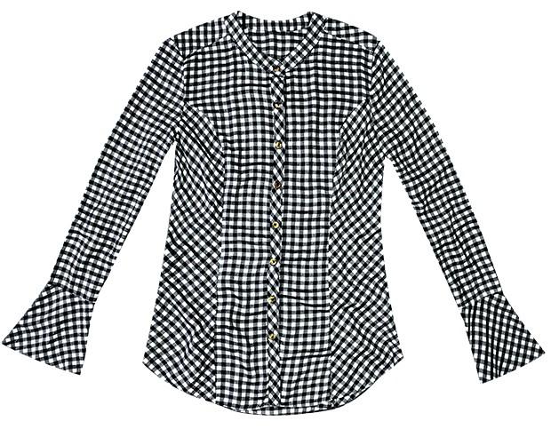 Camisa de tricoline Enfim, R$ 160 (Foto: Fotos: Rafael Pavarotti (SD MGMT) / Imaxtree / Divulgação)