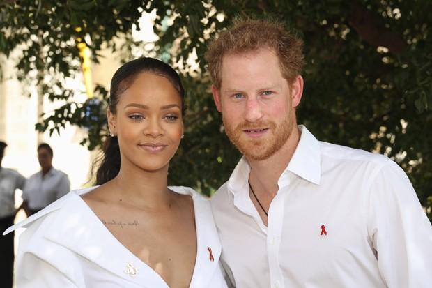Rihanna e príncipe Harry se encontraram em 2016 (Foto: Getty Images)