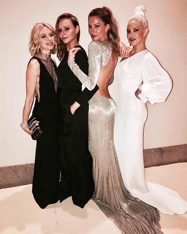 Naomi Watts, Stella McCartney, Gisele Bündchen e Kate Hudson (Foto: Reprodução/Instagram)