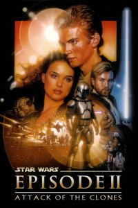 "Poster for the movie ""Star Wars: Episod II - Klonerna anfaller"""