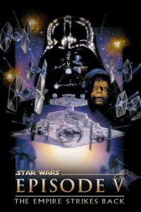 "Poster for the movie ""Star Wars: Episod V - Rymdimperiet slår tillbaka"""