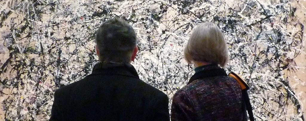 Jackson Pollock at MoMA (photo by Steven Zucker)