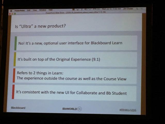 Slide presented at #BbWorld16 session