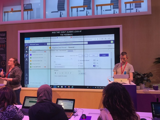 View of Microsoft Teams demo