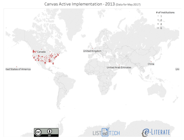 Global map of Canvas implementations in 2013