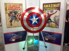 Captain America's shield. He must have the day off.