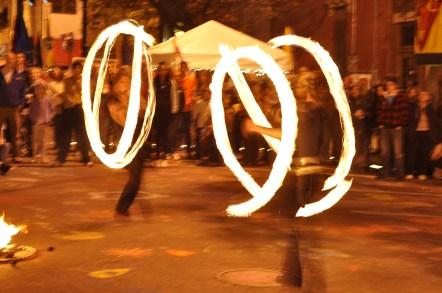 Fire Jugglers at Lotus Festival