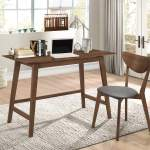 Swirl Mid Century Modern Walnut Desk And Chair Set Best Buy Furniture And Mattress