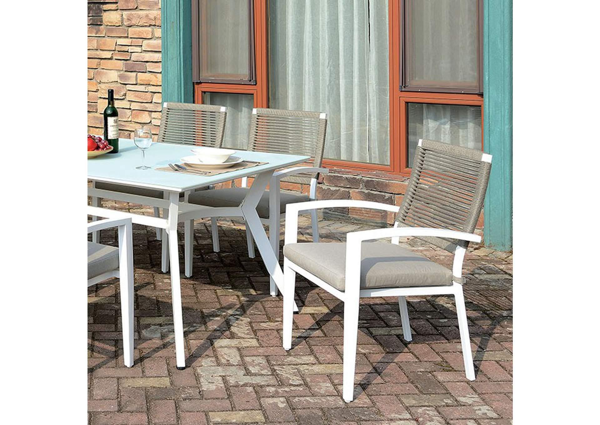 arisha white patio table vip furniture