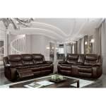 Pollu Brown Leather Reclining Loveseat Quality Rugs Home Furnishings Federal Way Wa