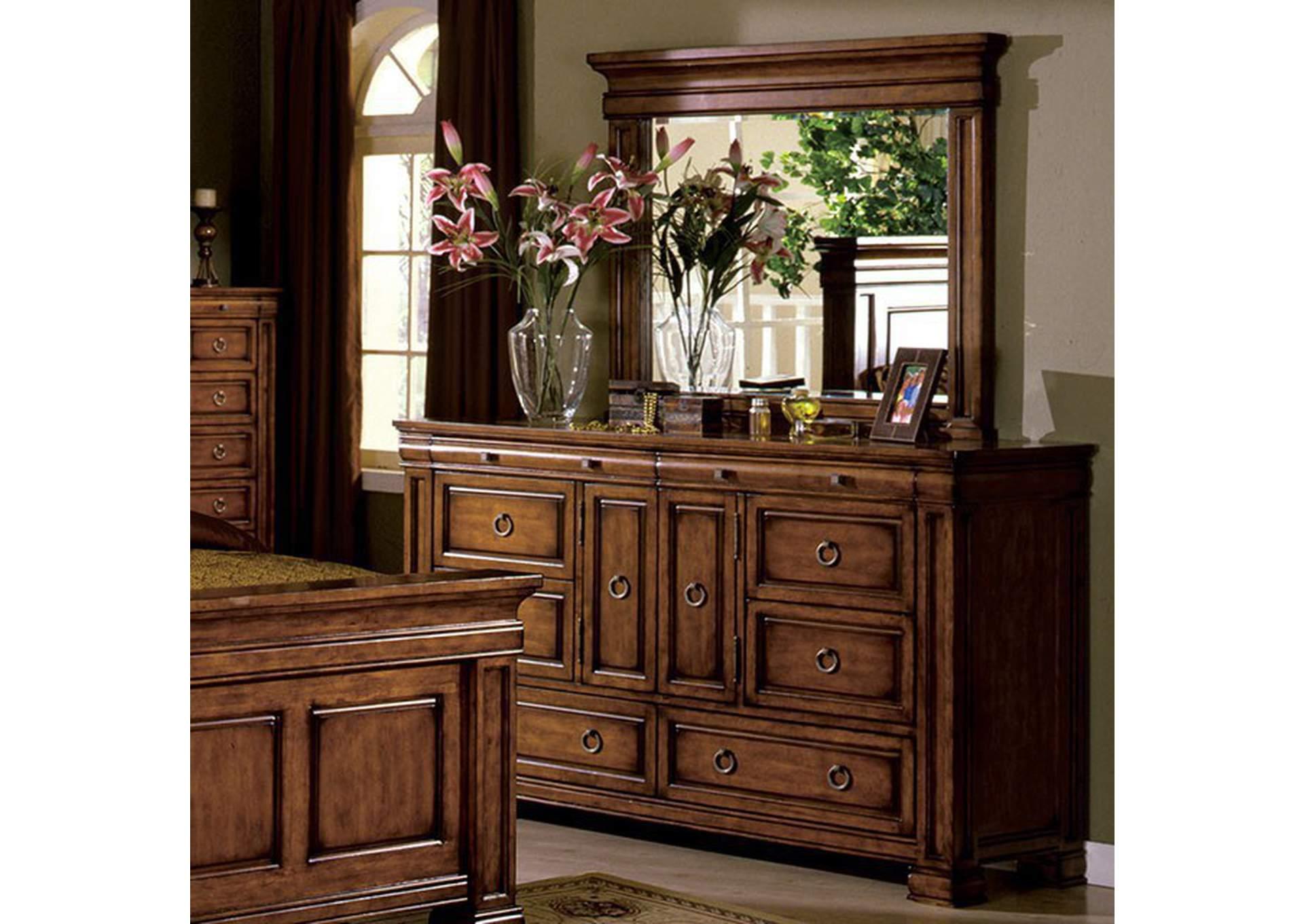 cambridge tobacco oak dresser the furniture loft