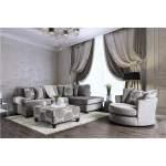 Bonaventura Gray Swivel Chair The Furniture Loft
