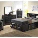 Black Queen Storage Bookcase Bed Dresser Mirror Best Buy Furniture And Mattress