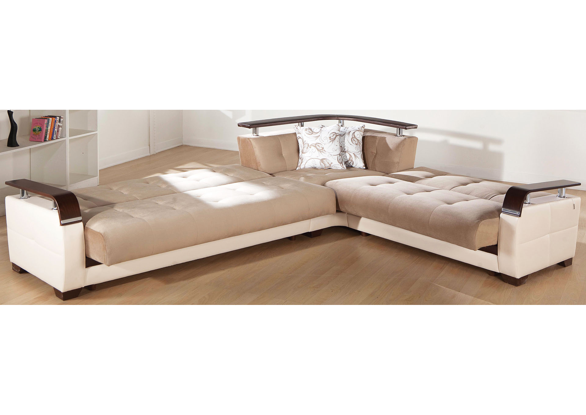 natural naomi light brown sectional harlem furniture
