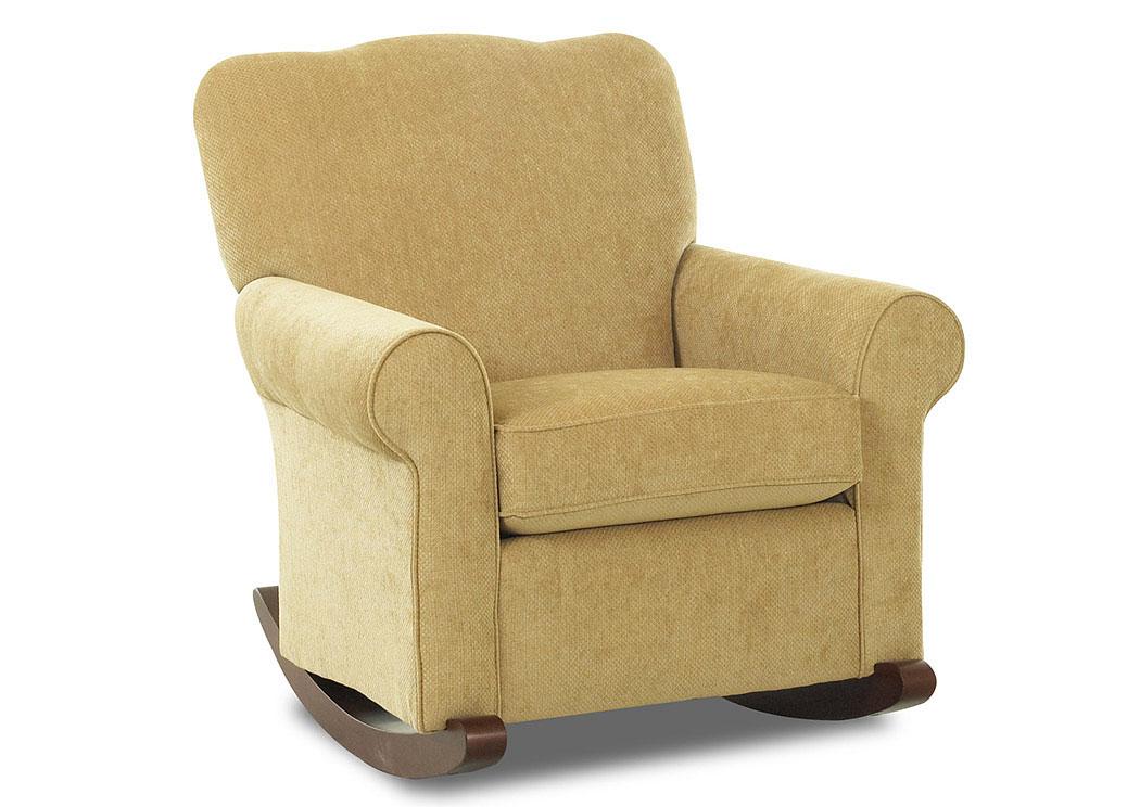 Old Town Tan Fabric Rocking Chair Signature Furniture Nj