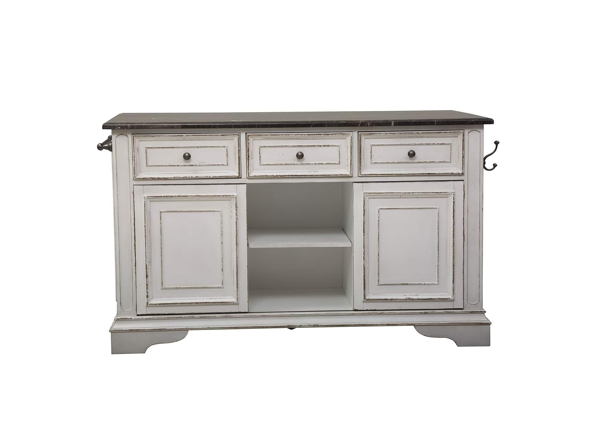 Magnolia Manor Antique White Kitchen Island With Granite Rhynes Rhodes Furniture