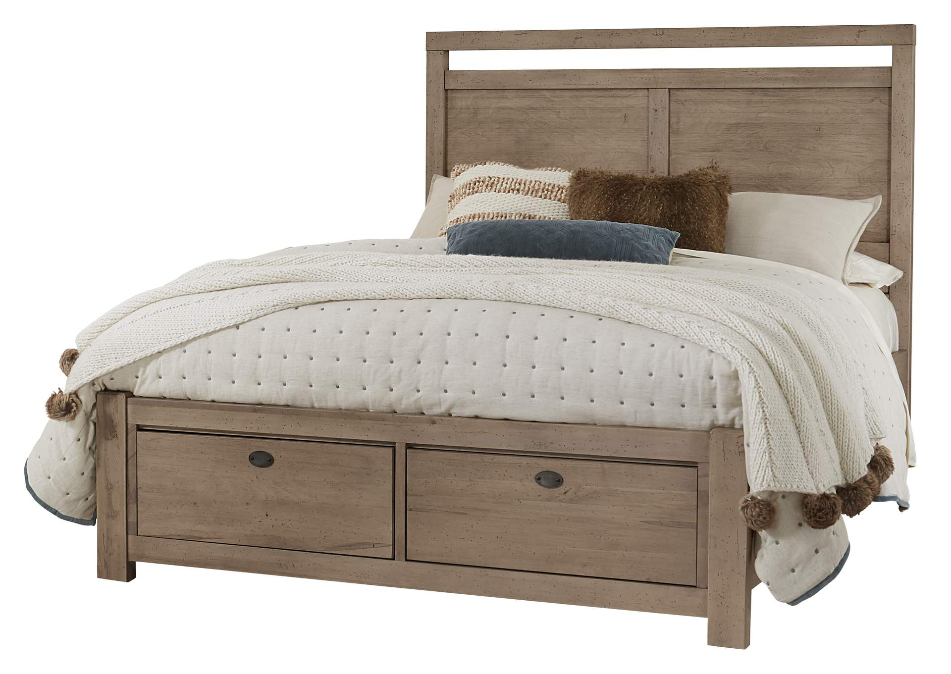 touche canted plank queen bed storage ivan smith
