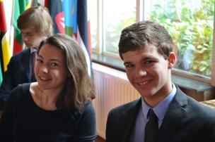 Camille Mutz, Présidente de l'Union Africaine et Loïc Picard, Président du Conseil de sécurité