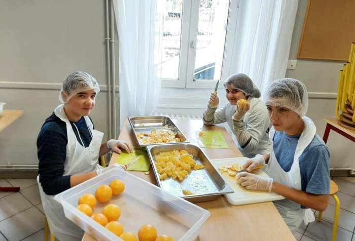 Repas végétarien 4eme MFR CHATEAUBRIANT
