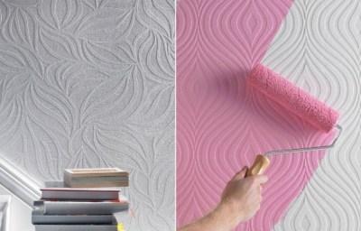 Обои под покраску — ключевые преимущества использования краски