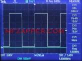 U- правоъгълен сигнал с 50%