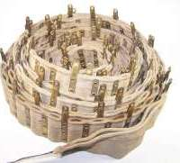 250 round Maxim cloth belt with metal tabs.