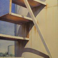 2012 Four Steps, wc, 14×20 (Penwell Series no.3)