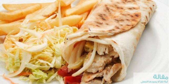 طريقة عمل ساندوتش شاورما سوري لذيذ