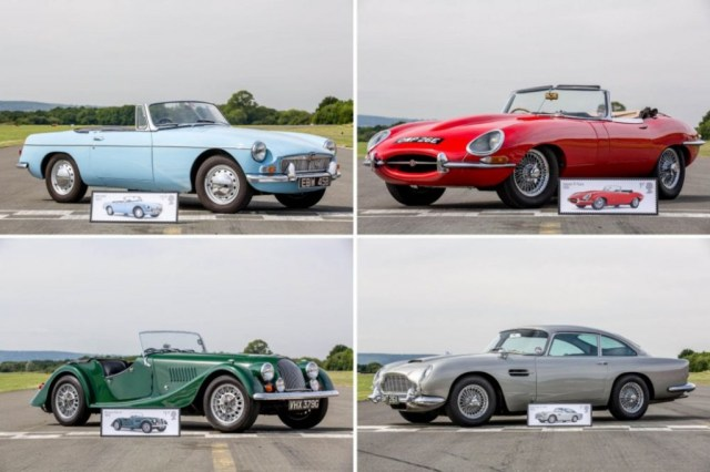 British Auto Legends stamps handout
