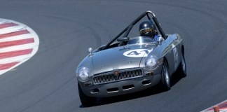 MGB under speed at Portland International Raceway