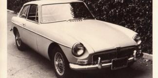 1967 MGB GT in B&W