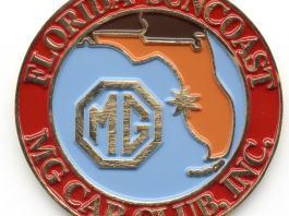Florida Suncoast MG Car Club enamel car emblem
