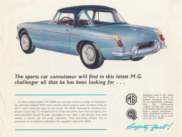 MG MGB Roadster - The sports car connoisseur will find in this latest M.G. challenger all that he has been looking for...