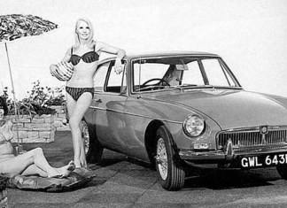 MG MGB GT Bikini Girls promo photo