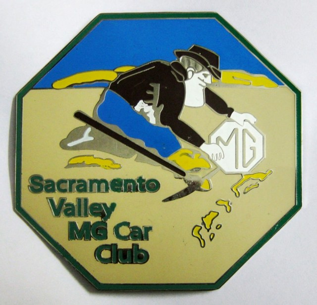 Sacramento Valley MG Car Club enamel emblem
