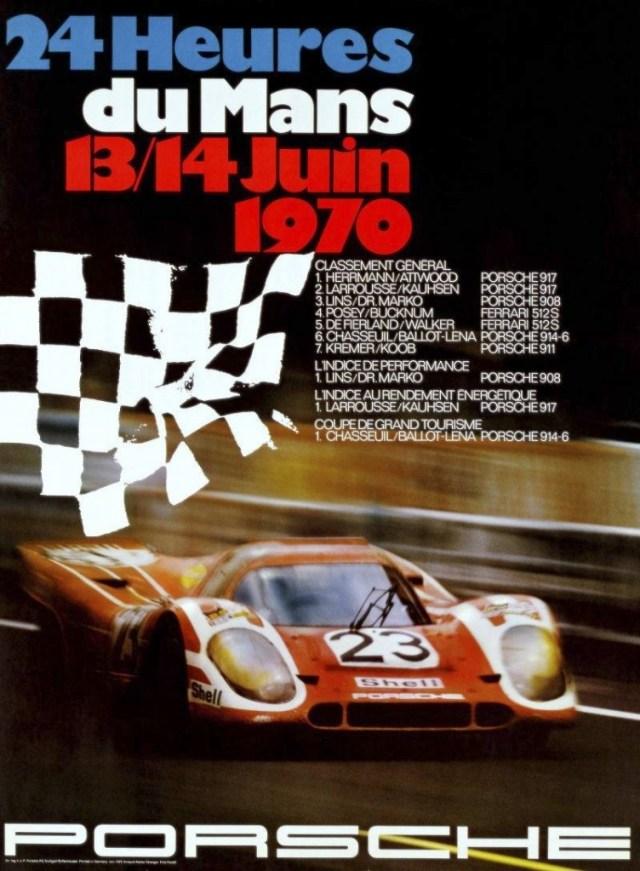 24 Hours Le Mans 1970 Porsche