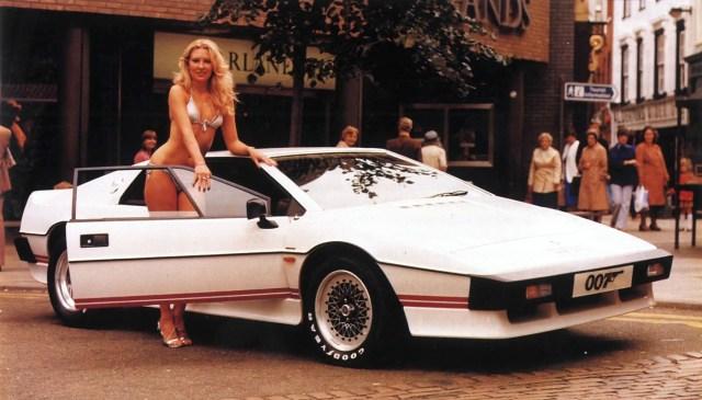 James Bond Lotus Esprit Turbo and bikini babe
