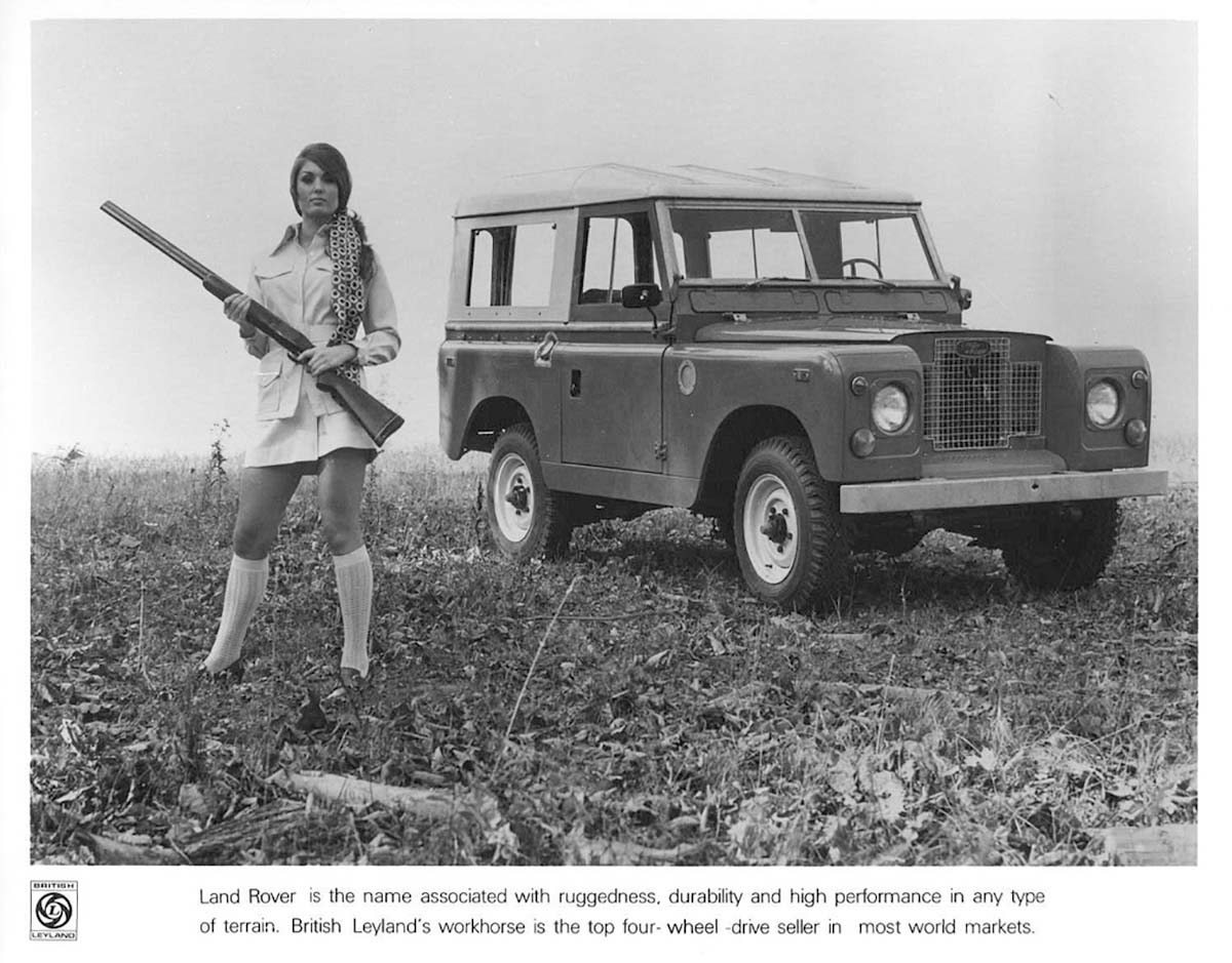 Land Rover PR photo - Girl with gun