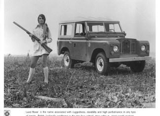 Land Rover PR photo - Girl with gun